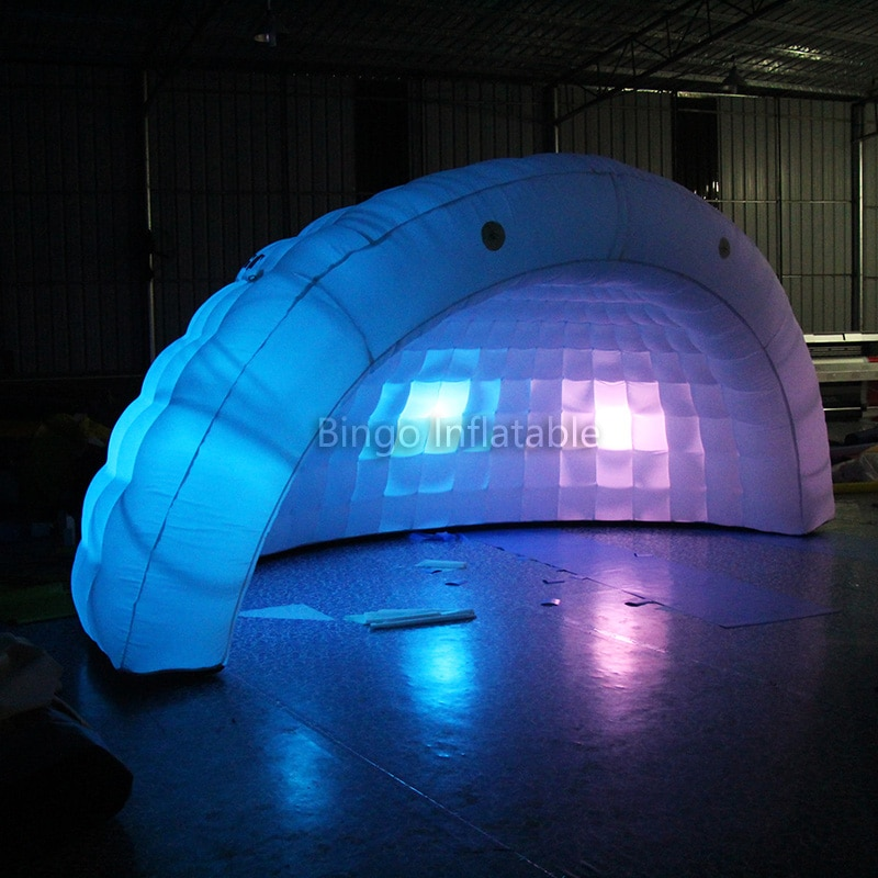 Offre spéciale tente gonflable extérieure portative de dôme avec la led pour le mariage/événements/utilisation commerciale (ventilateur libre, logo libre) tente de jouet