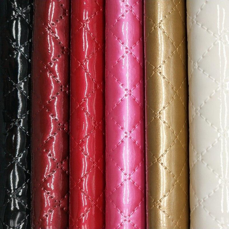 1 piezas A4 tamaño 21X29 cm Alisa brillo Cuero Sintetico relieve acolchado cuadros de Cuero DIY pelo Accessroies arte para DIY K28D