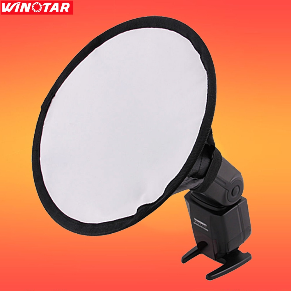 8 inch 20cm Round Flash Softbox Diffuser For Canon Nikon sony Pentax GODOX TT685 TT600 Pixel VILTROX JY-680A YONGNUO Speedligh