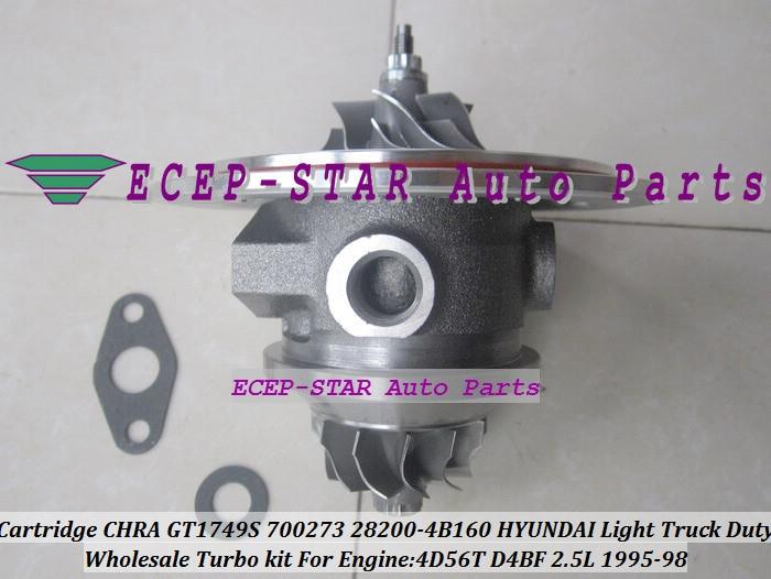 GT1749S Turbo Cartucho CHRA 700273-5002 s 700273-0001 28200-4B160 700273 Para HYUNDAI H100 H200 Luz Caminhão Dever 4D56T D4BF 2.5L