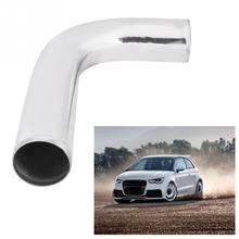 Tuyau de radiateur Intercooler en aluminium poli   90 degrés 3 pouces/76mm coude tuyau de radiateur poli pour la voiture, tuyaux Turbo de style