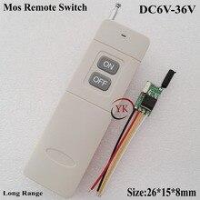 Mini interrupteur de commande à distance cc 9V   7.4, 6V, 9V, 12V, 16V, 24V, 28V, 36V, sortie dentrée, puissance OFF, émetteur à longue portée
