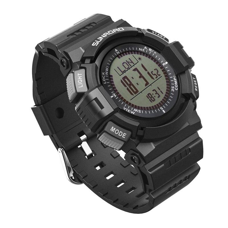 SUNROAD الرياضة الرجال الساعات الرقمية مقياس الارتفاع عداد الخطى البوصلة Reloj Hombre ساعة في الهواء الطلق الأصلي ساعات المعصم