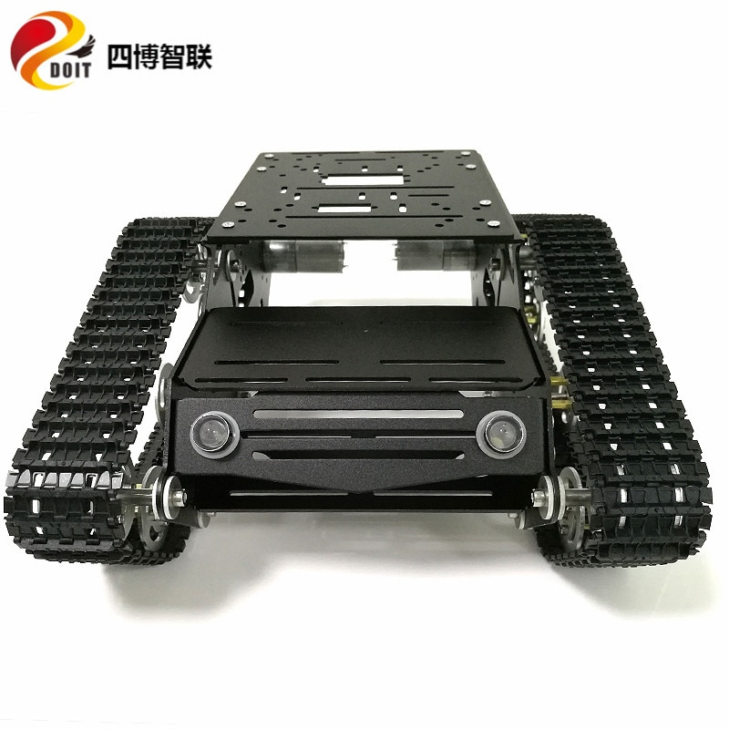SZDOIT Unassembled YP100 Metal Tank Chassis Kit Multifunction Tracked Crawler Robot Platform Motor DIY For Arduino Competition enlarge
