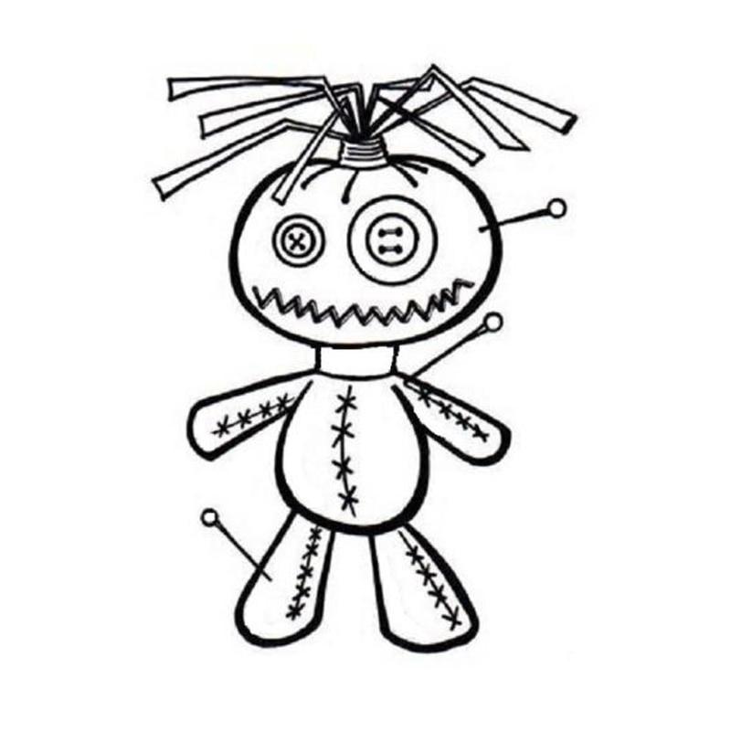 11*15.2 CENTÍMETROS Bonito Voodoo Boneca Adesivos de Carro Decalques de Vinil Dos Desenhos Animados Car Styling Preto/Prata C7-1103