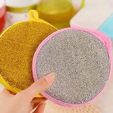 3 stücke 11 cm doppelseitige Dish Waschen Handtuch Schüssel Topf Pan Reinigung Schwämme Waschen Pinsel runde Scheuer Pads reiniger Küche Werkzeug