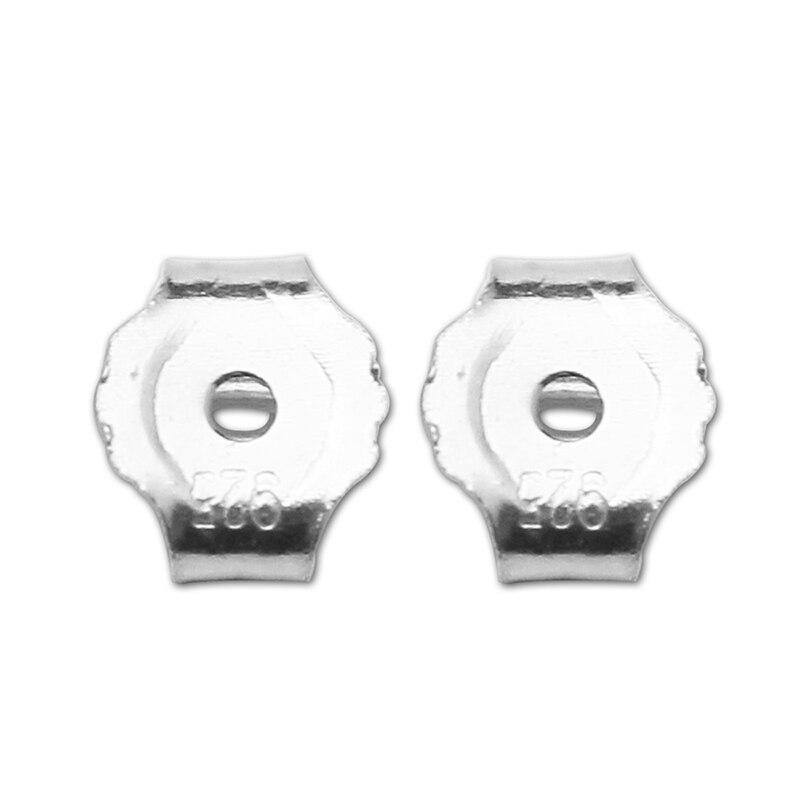6 пар (12 шт.) серьги из серебра 925 пробы, серьги из стерлингового серебра, 5x4,5x2,5 мм, доставка из США, SKU25339RSS