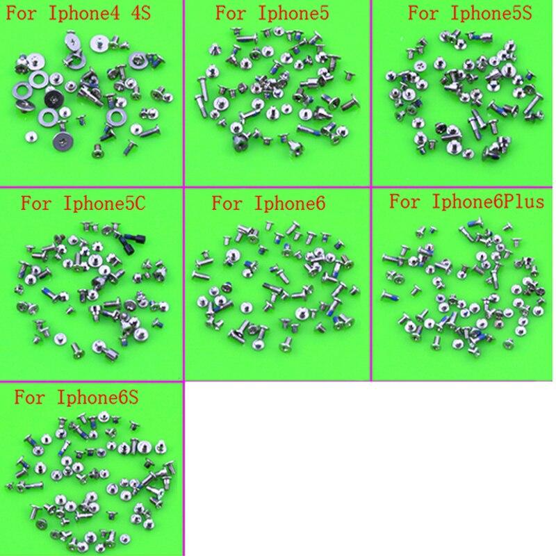 50 juegos de accesorios de mantenimiento de teléfonos móviles, Kit completo de tornillos para iPhone 4, 4S, 5, 5S, 5C, 6, 6S
