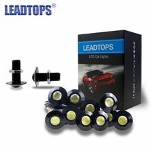 10Pcs Auto Ultra Thin Eagle Eye DRL LED Daytime Running Lights For Car An 23MM Eagle Eye 12v Led 100% Waterproof Source Light CE