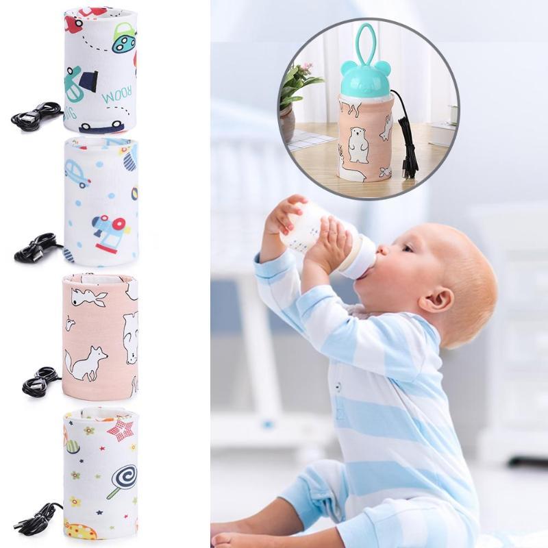 USB leche Agua Caliente Silla de viaje aislado bebé botella de Enfermería de bebé recién nacido portátil alimentación con biberón calentadores