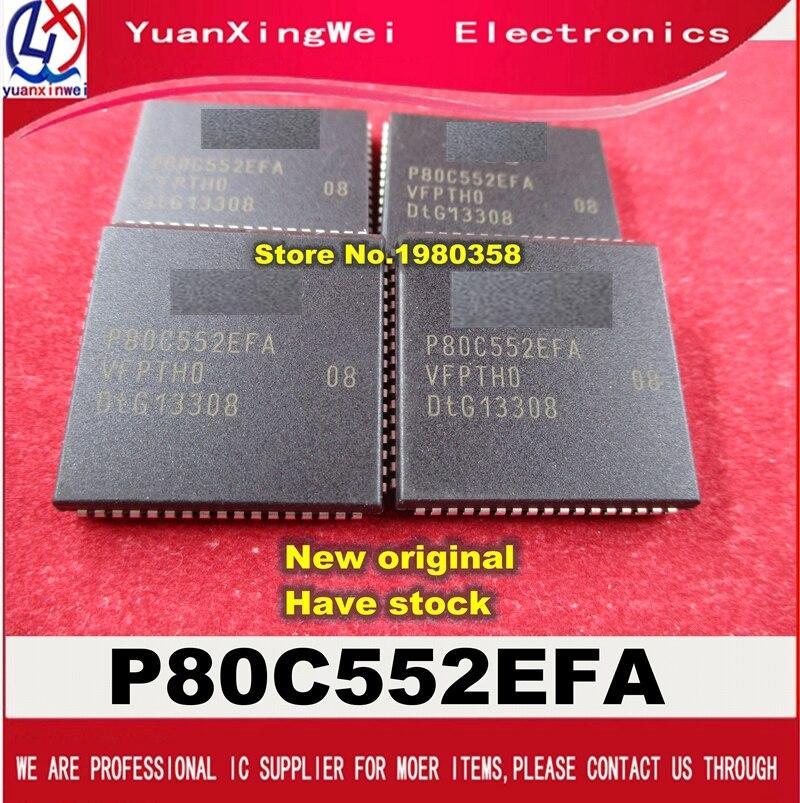 Бесплатная доставка, 10 шт./лот, P80C552EFA/08 P80C552EFA P80C552 80C552 MCU 8BIT 68PLCC