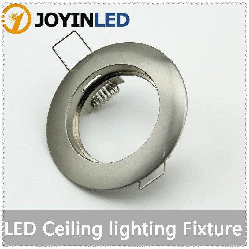 LED Ceiling lamp holder GU10/ MR16 Lighting ceiling spot light LED/spotlight lamp led lamp cup fixtures Sand nickel aluminum