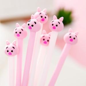 Jonvon Satone 30 Pcs Cute Pink Pig Modeling Pen 0.38mm Gel Pens Carbon Black Signature Pen Student Stationery Wholesale