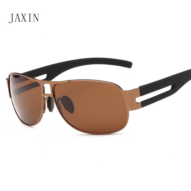 Солнцезащитные очки JAXIN мужские с окантовкой, модные Поляризационные солнечные очки, уличные очки для путешествия UV400