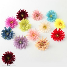 Fleurs artificielles 8 cm en soie   Nouveau, 10 fleurs pour fête de mariage, bricolage de couronne pour scrapbook, décoration de la maison, coffret cadeau