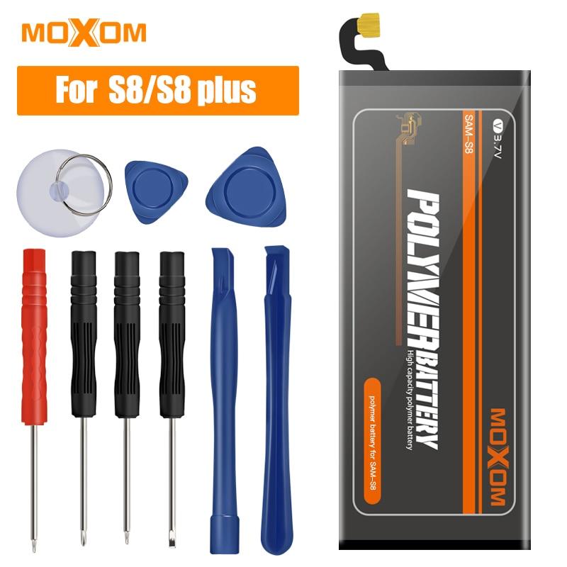 Batería de teléfono MOXOM para Samsung GALAXY S8 S8 Plus Phone-Battery G950 G955 baterías de polímero de litio de repuesto para Samsung Galaxy S8