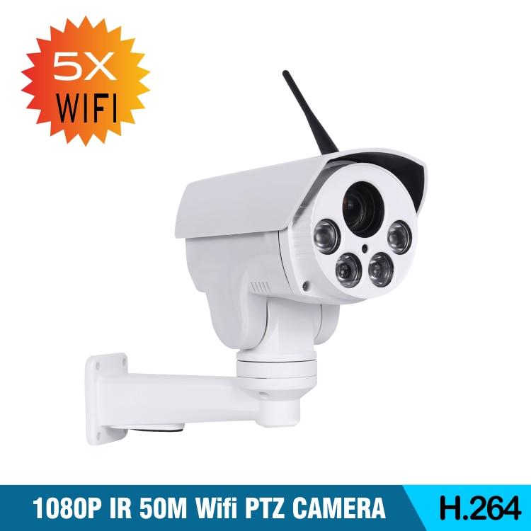 Kablosuz 2MP/5MP HD Wifi PTZ Bullet kamera 5X Zoom otomatik odaklama 2.7-13.5mm 1080P açık IR gece görüş IP kamera Onvif CamHi