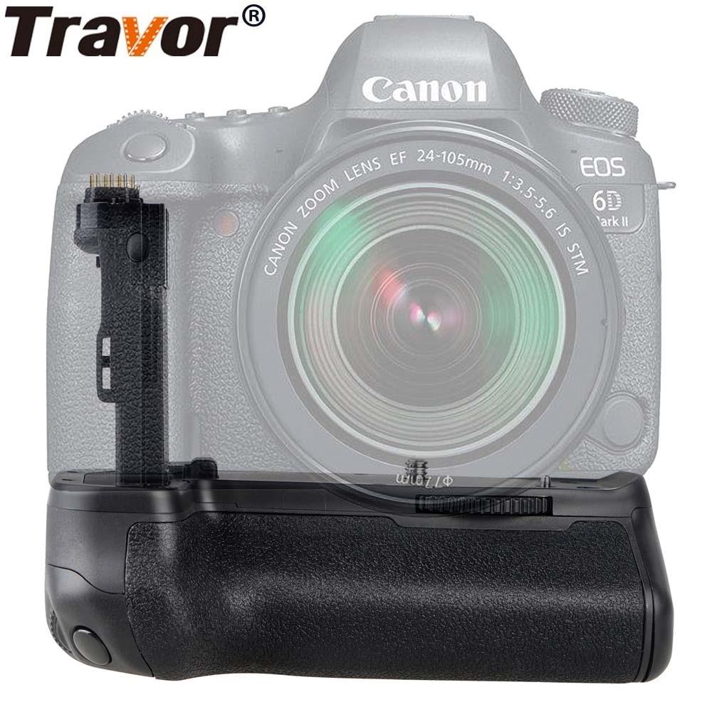 Вертикальная Батарейная ручка для камеры Travor для Canon 6D Mark II 6D2 аккумулятор dslr ручка Замена BG-E21 работа с LP-E6 аккумулятором