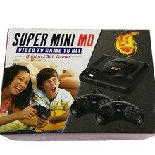 Super mini für M D 16 bit AV ausgang familie spiele TV video spiel konsole gebaut in 2G bit 208 spiele