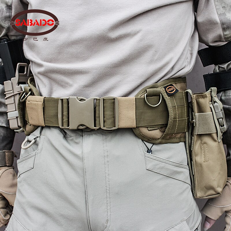 excellent elite spanker outdoor tactical molle nylon patrol waist belts army military accessories jungle hunting combat men belt Airsoft Military Nylon Molle Waist Combat Belt Army Tactical Cummerbunds Wargame CS Equipment Universal Hunting Accessories