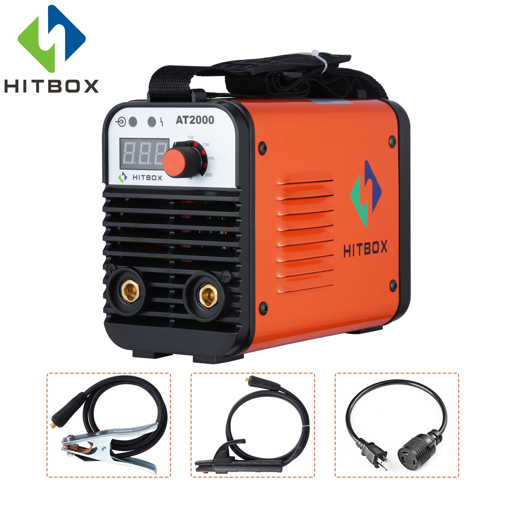 Hitbox 110 v 220 v arco soldador mma máquina de solda at2000 inversor soldadores a arco dupla tensão igbt tecnologia nova chegada mini soldador