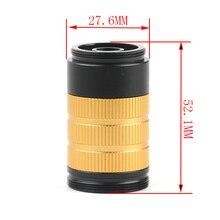Industrie mikroskop kamera C-mount MINI 1-50X Zoom Objektiv 40/50mm Ring Adapter Für HDMI USB VGA video Kamera