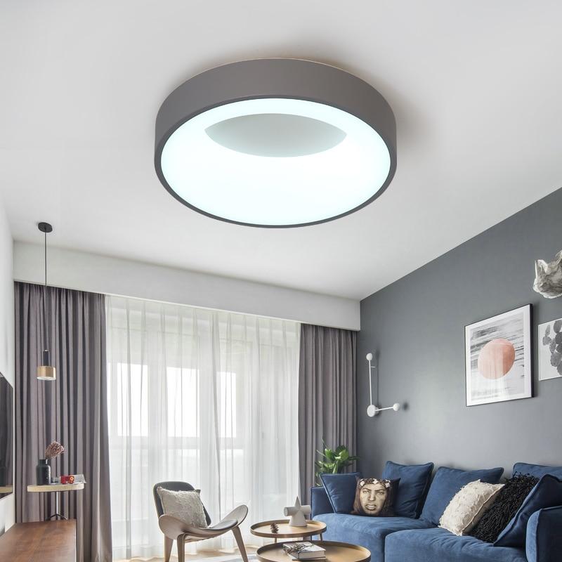 Lámpara Led de araña de techo moderna, Blanco/gris, para dormitorio, cocina, lámpara...