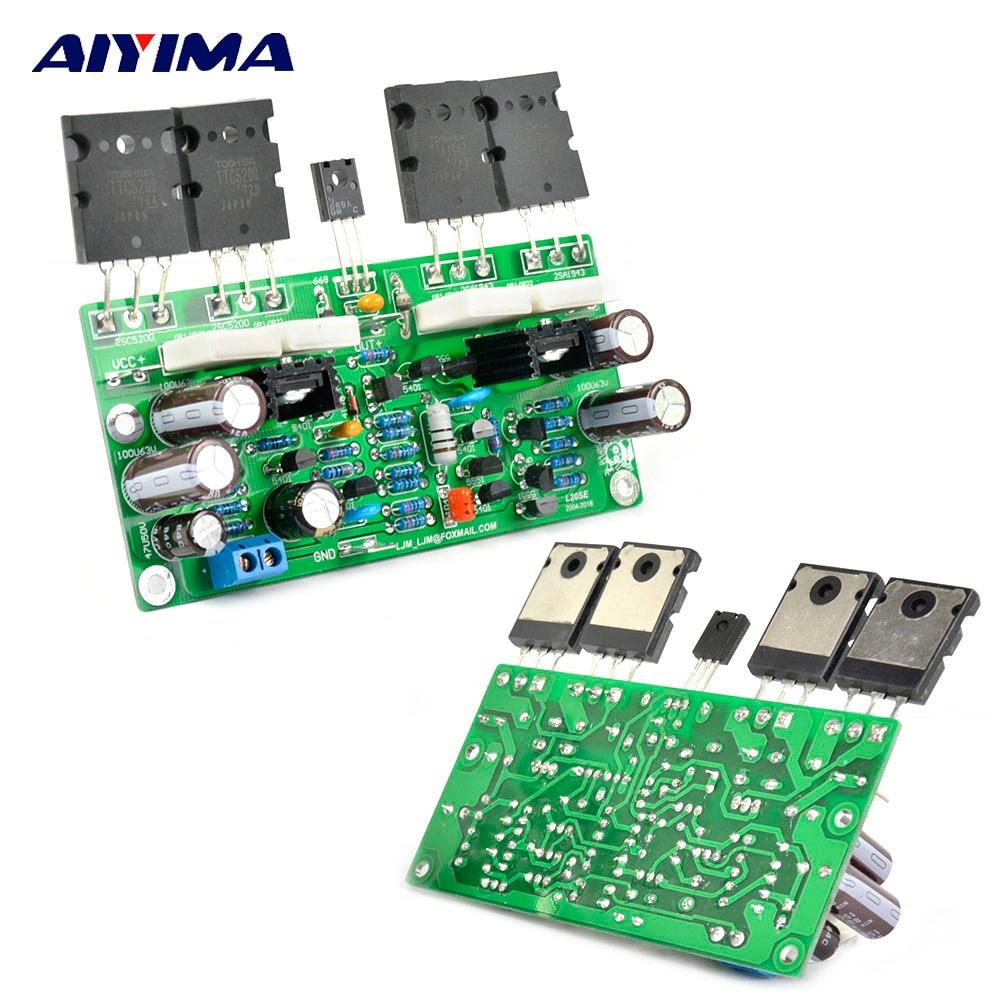 Placa de amplificador de audio AIYIMA 2 uds L20 SE TOSHIBA A1943 C5200, placa de potencia de amplificador estéreo de doble canal