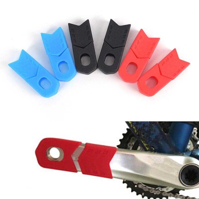 Bicicleta manivela manga protetora mtb bicicleta de estrada ciclismo pedaleira proteger capa manivela botas de braço vermelho, azul, preto