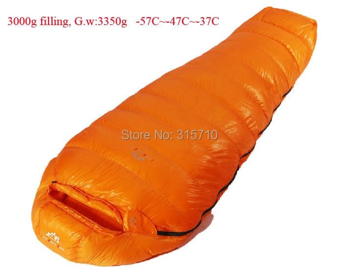 3000g vulling-57C ~-37C! Ultralichte down outdoor ganzendons slaapzak outdoor volwassen ademend verdikking slaapzak