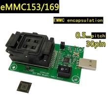 EMMC153/169 flip shrapnel to USB test seat eMMC chip data recovery font programming seat