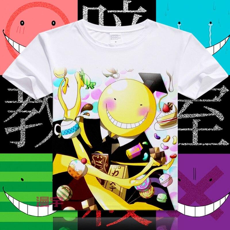 Nueva camiseta de moda de Assassination Classroom, camisetas de manga corta de Anime japonés, camisetas de Korosensei de dibujos animados, XD-044 Ansatsu Kyoushitsu