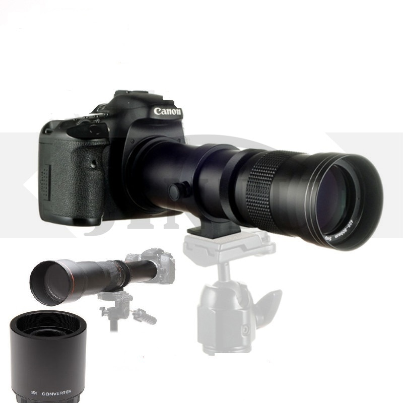 JINTU 420-1600mm F/8.3-16 Telephoto Zoom 2X Teleconverter LENS for Canon EF EOS 90D 80D 70D 60D 60Da 50D 7D 6D 5D 5Ds T6s T6i T6