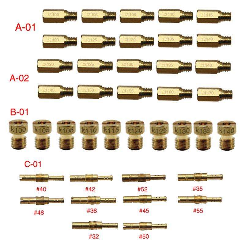 10 unids/set de Jet principal para PWK OKO CVK Mikuni KOSO motocicleta carburador Vice boquilla para inyectores tamaño 100-140