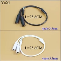 yuxi hot sale 3 5 mm earphone headset headphone mp3 mp4 audio stereo plug y splitter cable adapter jack 1 male to 2 dual female