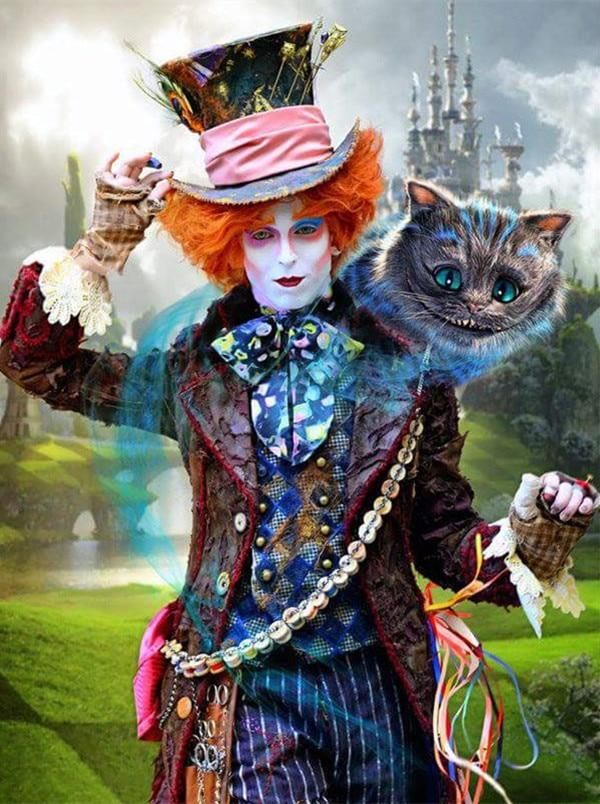 5D Diy Diamond Painting people Alice In Wonderland Full Diamond Embroidery Cross Stitch Love The Cheshire Cat Needlework