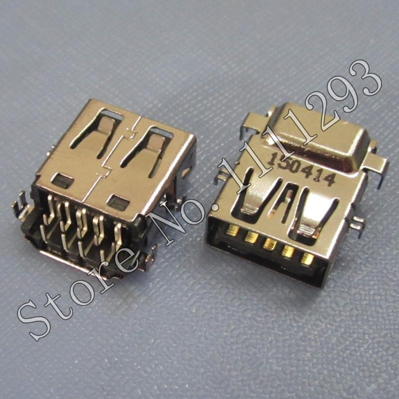 10 unids/lote USB 3,0 Jack conector hembra para Dell Latitude E5540 E6440 etc portátil USB3.0 puerto