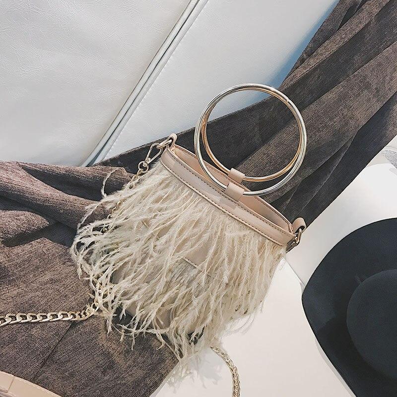 Small Bag Female Shoulder Bags for Women 2018 Cute Sweet Lady Ring Chain Shoulder Cross Body Bucket Bag Handbag Dropshipping