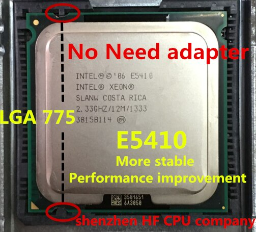 Lntel XEON E5410 2,33 ГГц/12 м/1333 МГц/ЦП, равный LGA775 Core 2 Quad Q8200 CPU, (работает на материнской плате LGA775, адаптер не нужен)
