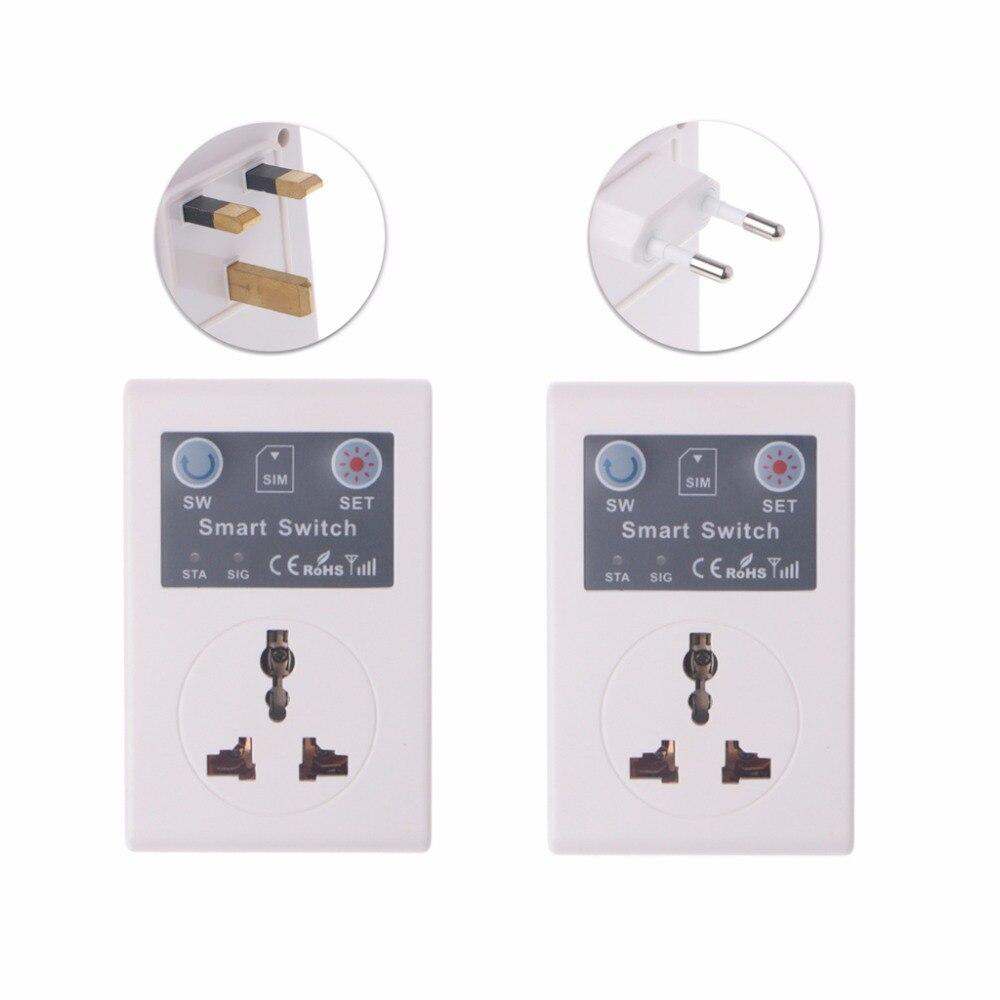 UE/220 V teléfono RC inalámbrico remoto Control enchufe GSM interruptor inteligente de enchufe socket remoto