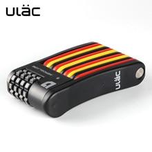 ULAC 4 chiffres combinaison mot de passe serrure de vélo pliant serrure de vélo en acier serrure de sécurité pour vélos antivol serrure de vélo de sécurité