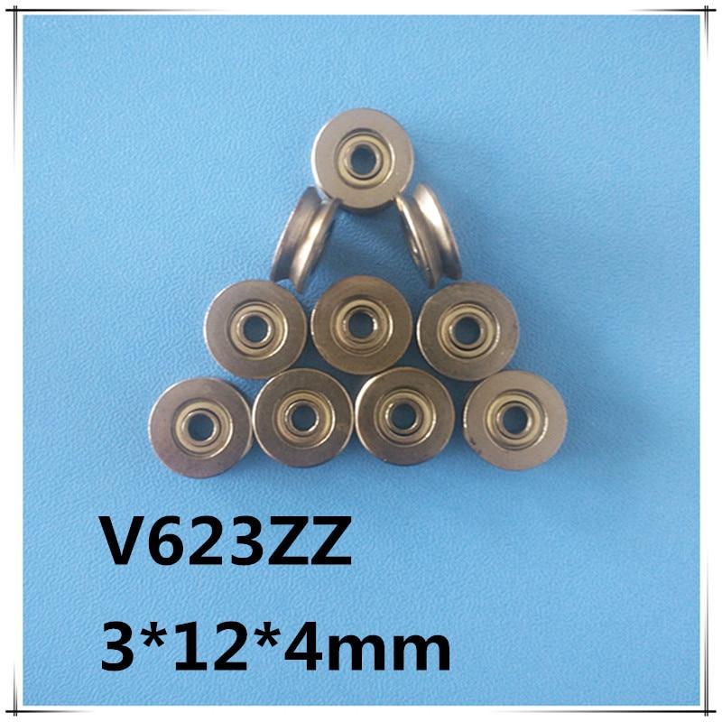 5 TEILE/LOS BS054 V623ZZ Miniatur Lager 3mm * 12mm * 4 mm V-förmigen kanal Lager Track lager pulley lager Mit V nut
