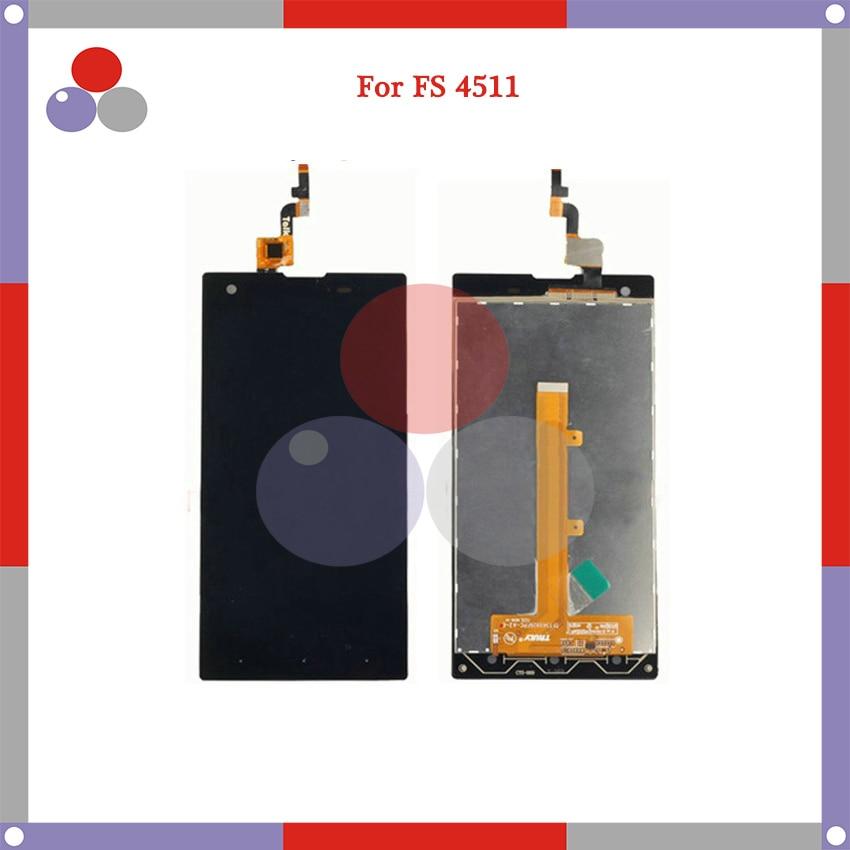 10 unids/lote 5.0 para Fly IQ4511 pantalla táctil con digitizador full Assembly piezas de reemplazo