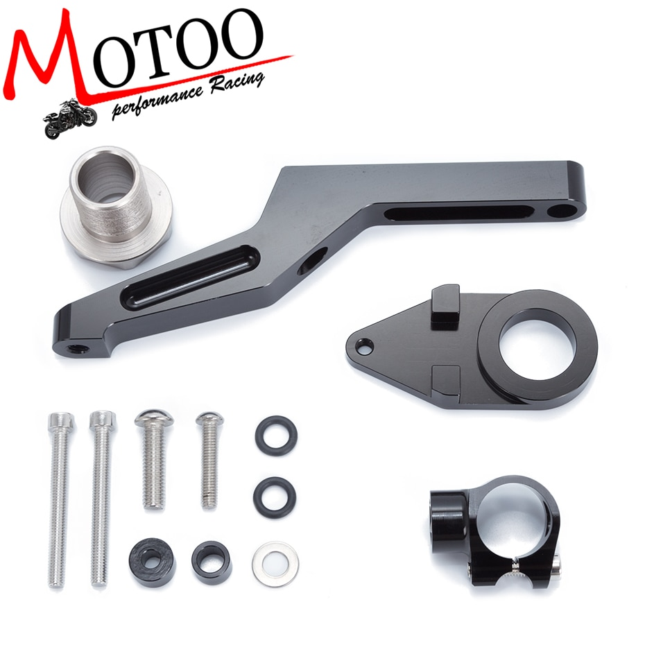 Para KAWASAKI ZX6R ZX-6R 2009-2016 motocicletas dirección ajustable amortiguador soporte Kit de soporte de montaje Accesorios