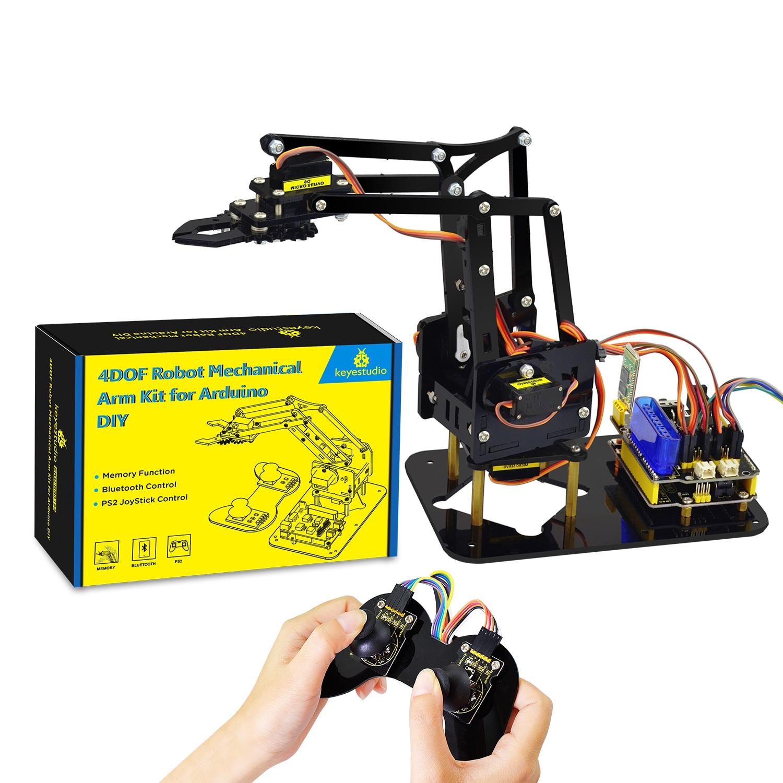 Keyestudio 4DOF Acrylic Toys Robot Mechanical Arm Claw  Kit for Arduino DIY Robot недорого