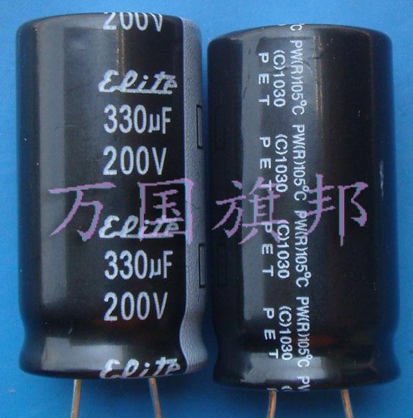 Бесплатная доставка. Электролитический конденсатор 200 В 200 мкФ 330 мкФ