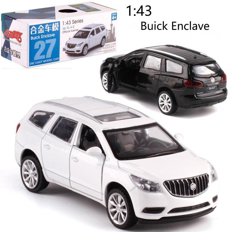 Buick Enclave escala 143, coche de aleación extraíble del coche, modelo de Metal fundido a troquel para regalo de colección