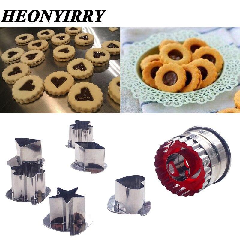 7 шт., инструменты для резки печенья, 3D сценарий, нержавеющая сталь, резак для печенья, набор, Пряничная форма для торта, печенья, резак для пом...