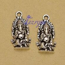 40 pcs/lot-27x14mm, Religion Vintage thaïlande Ganesha breloques Antique en alliage de métal éléphant dieu breloques, fournitures de travaux manuels.