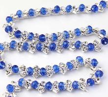 Free Shipping  5 yards Crystal Rhinestone Trim, Rhinestone Applique, Bridal Applique,Wedding Applique,Rhinestone Chain TONG051